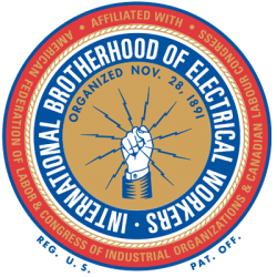 International Brotherhood of Electrical Workers (IBEW) logo