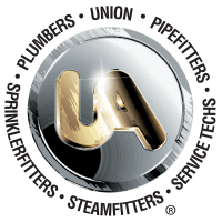 The United Association International (UA) logo